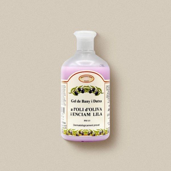 Gel de bany d'oli d'oliva i enciam lila
