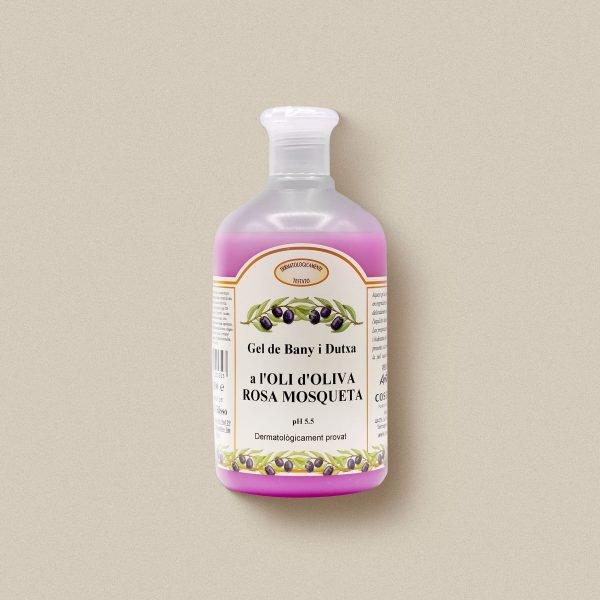 Gel de bany d'oli d'oliva i rosa mosqueta