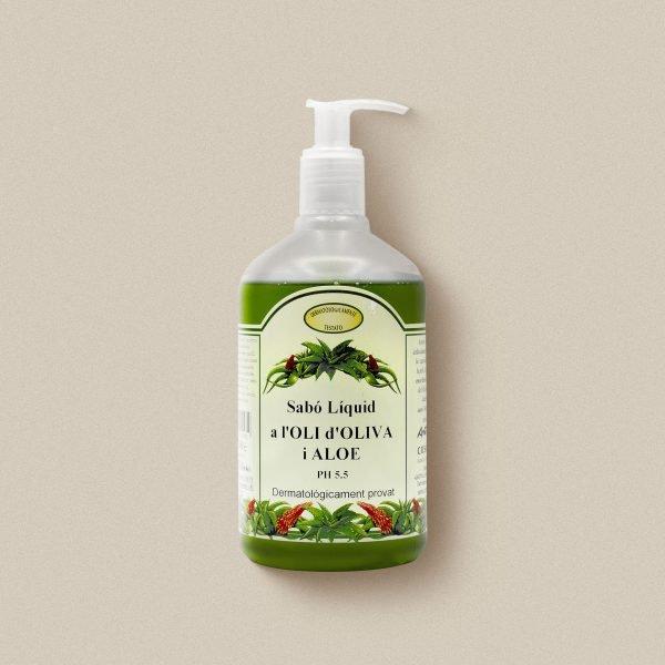 Sabó de mans d'oli d'oliva amb aloe vera