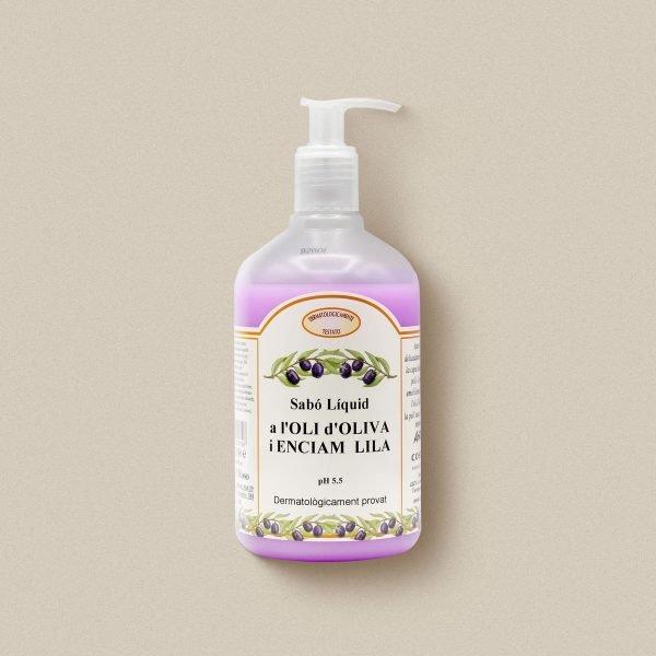Sabó de mans d'oli d'oliva amb enciam lila