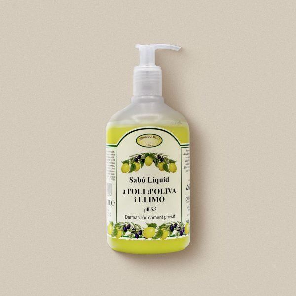 Sabó de mans d'oli d'oliva amb llimona